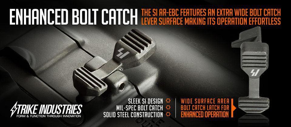 Strike Industries Enhanced Bolt Catch - Black